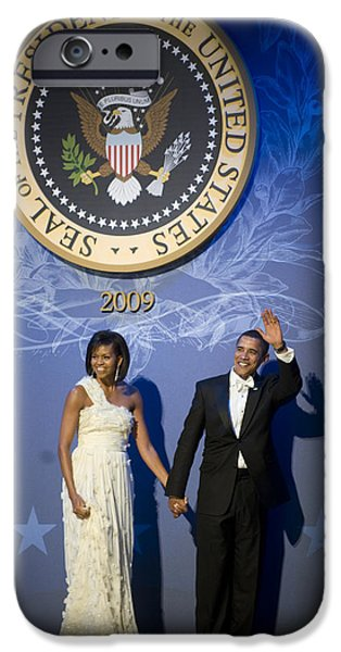 Roughead iPhone Cases - President and Michelle Obama iPhone Case by had J McNeeley