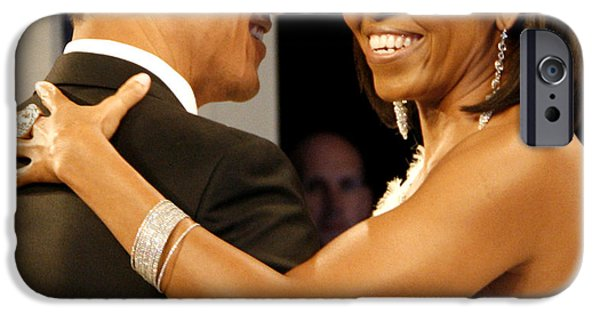Roughead iPhone Cases - President and Michelle Obama iPhone Case by Official Government Photograph