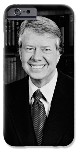 Carter iPhone Cases - President Jimmy Carter  iPhone Case by War Is Hell Store