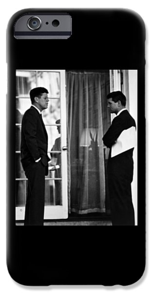 Democrat iPhone Cases - President John Kennedy And Robert Kennedy iPhone Case by War Is Hell Store