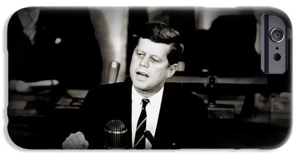 President Kennedy iPhone Cases - President Kennedy Addressing Congress 1961 iPhone Case by Mountain Dreams