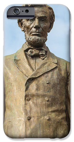 Recently Sold -  - President iPhone Cases - President Lincoln Statue iPhone Case by Roger Reeves  and Terrie Heslop