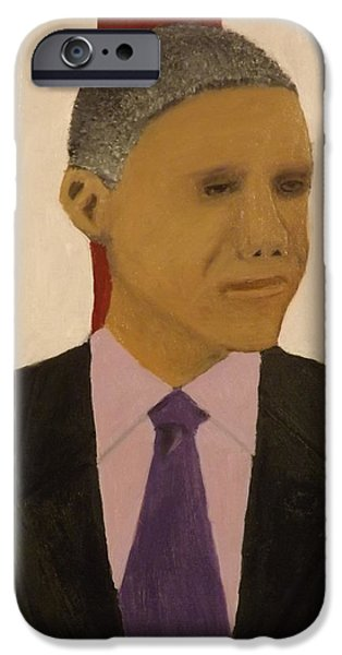 President Obama iPhone Cases - President Obama iPhone Case by Bruce Newcomer