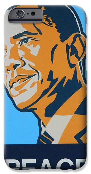 Best Sellers -  - President Obama iPhone Cases - President Obama iPhone Case by Gunter  Hortz
