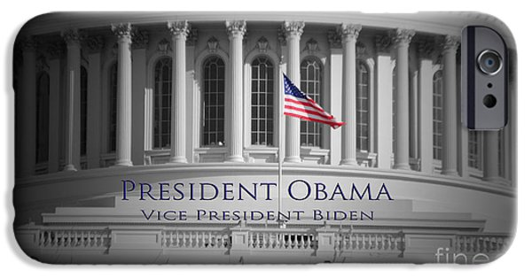 Vice President Biden iPhone Cases - President Obama Inauguration iPhone Case by Jost Houk