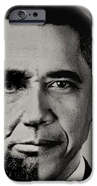 President Obama Meets President Lincoln iPhone Case by Michael Braham