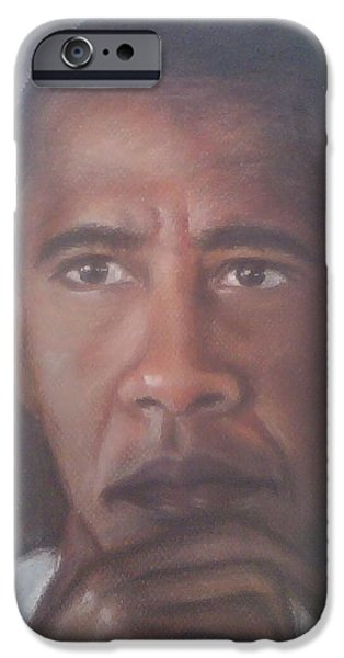 Barrack Obama iPhone Cases - President Obama  iPhone Case by Ronnie Melvin