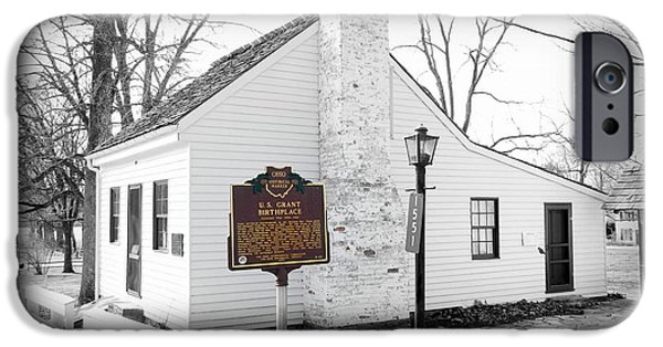 Politician iPhone Cases - President Ulysses S. Grants Birthplace iPhone Case by Kathy Barney
