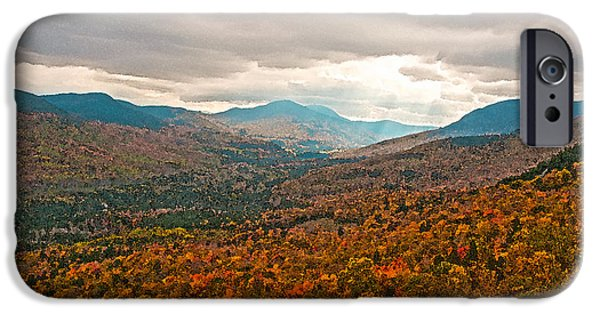 Munroe iPhone Cases - Presidential Range in Autumn Watercolor iPhone Case by Brenda Jacobs