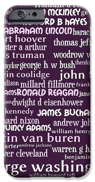 Presidents of The United States 20130625bwmag iPhone Case by Wingsdomain Art and Photography
