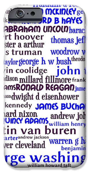 Presidents of The United States 20130625whi iPhone Case by Wingsdomain Art and Photography
