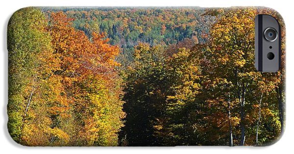 Rural Maine Roads iPhone Cases - Presque Isle View iPhone Case by Gene Cyr