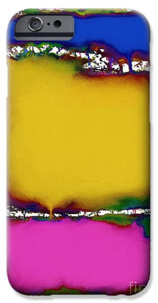 Splashy Digital Art iPhone Cases - Press 2 iPhone Case by Keith Mills