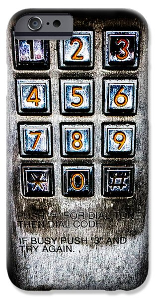 Press Three And Try Again iPhone Case by Bob Orsillo