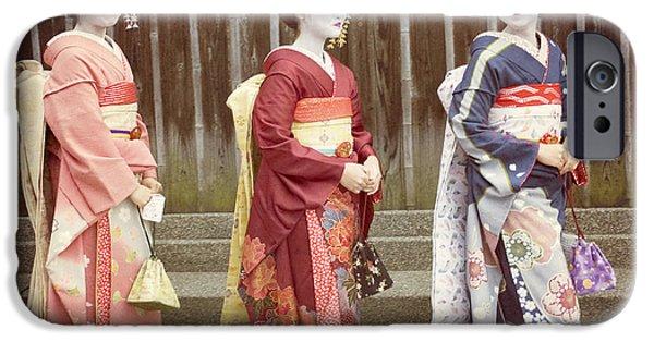 Kyoto iPhone Cases - Pretty Girls iPhone Case by Juli Scalzi
