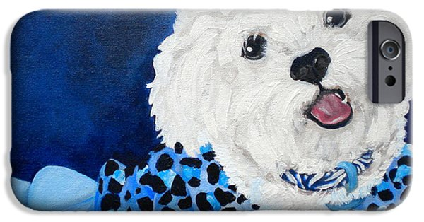 Debi Pople iPhone Cases - Pretty in Blue iPhone Case by Debi Starr