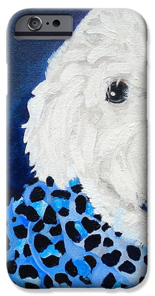 Pretty in Blue iPhone Case by Debi Starr