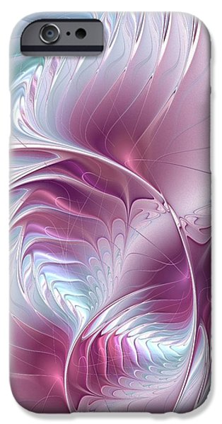 Silver iPhone Cases - Pretty in Pink iPhone Case by Anastasiya Malakhova