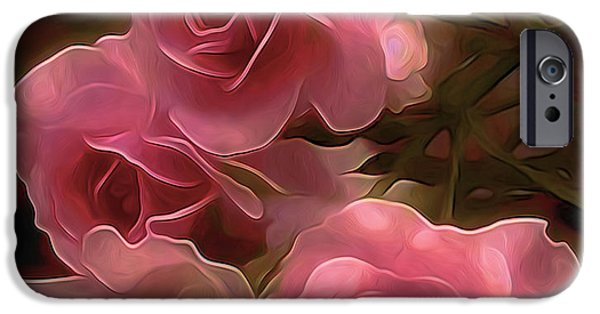 Walker Digital Art iPhone Cases - Pretty in Pink iPhone Case by  Fli Art