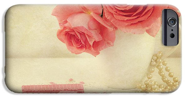 Pink Roses iPhone Cases - Pretty In Pink iPhone Case by Juli Scalzi