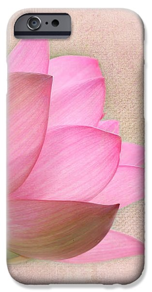Pretty in Pink Lotus Blossom iPhone Case by Sabrina L Ryan