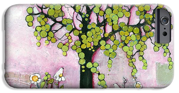 Botanical Mixed Media iPhone Cases - Pretty in Pink Paradise Tree iPhone Case by Blenda Studio