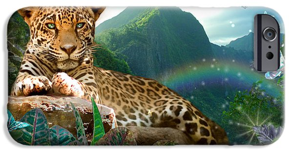 Alixandra Mullins iPhone Cases - Pretty Jaguar iPhone Case by Alixandra Mullins