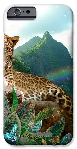 Pretty Jaguar iPhone Case by Alixandra Mullins