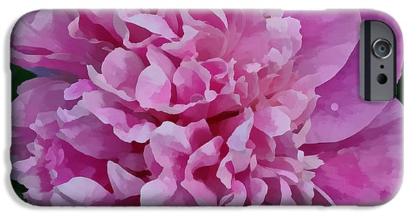Indiana Flowers iPhone Cases - Pretty Peony iPhone Case by Sandy Keeton