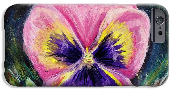 Petals Pastels iPhone Cases - Pretty Pink Pansy Person iPhone Case by Shana Rowe