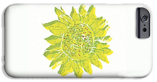Snake Reliefs iPhone Cases - Pretty Sunflower  iPhone Case by Lynn-Marie Gildersleeve