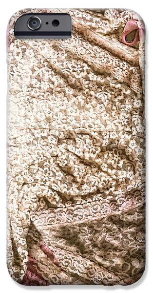 Underwear iPhone Cases - Pretty Things 3 - Lingerie Art By Sharon Cummings iPhone Case by Sharon Cummings