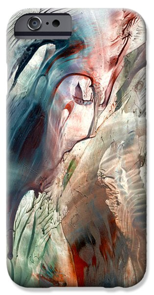 Must Art Paintings iPhone Cases - Previous life visions iPhone Case by Cristina Handrabur