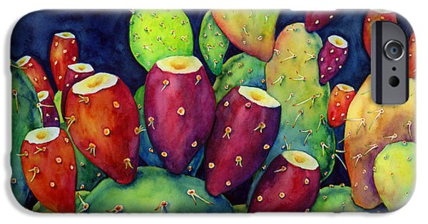 Recently Sold -  - Summer iPhone Cases - Prickly Pear iPhone Case by Hailey E Herrera