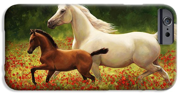 Steer Paintings iPhone Cases - Pride and Joy iPhone Case by Laurie Hein