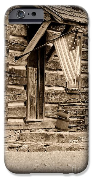 Old Glory iPhone Cases - Pride Honor and Glory iPhone Case by Paul Ward