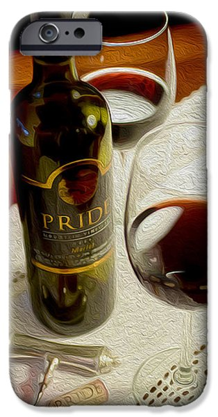 Wine Bottles Mixed Media iPhone Cases - Pride iPhone Case by Jon Neidert