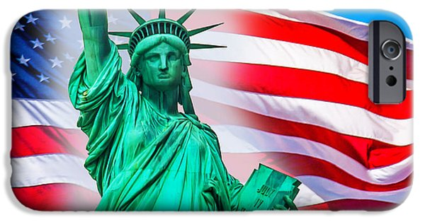 New York City Digital Art iPhone Cases - Pride Of America iPhone Case by Az Jackson