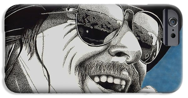 Music Drawings iPhone Cases - Pride of Detroit iPhone Case by Cory Still