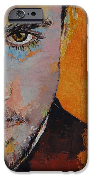 Tangerines Paintings iPhone Cases - Priest iPhone Case by Michael Creese