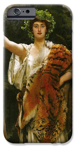 Priestess Bacchus iPhone Case by John Collier