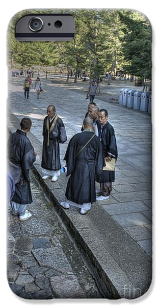Nara iPhone Cases - Priestly Gathering iPhone Case by David Bearden