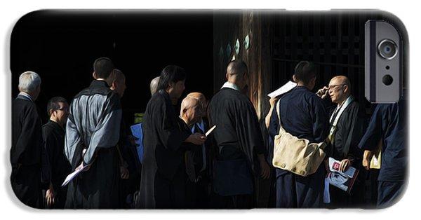 Nara iPhone Cases - Priests of Todai-ji iPhone Case by David Bearden