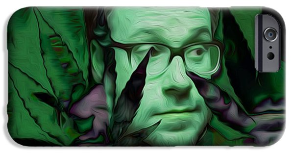 Painter Photo Mixed Media iPhone Cases - Primal Rogan iPhone Case by Jimi Bush