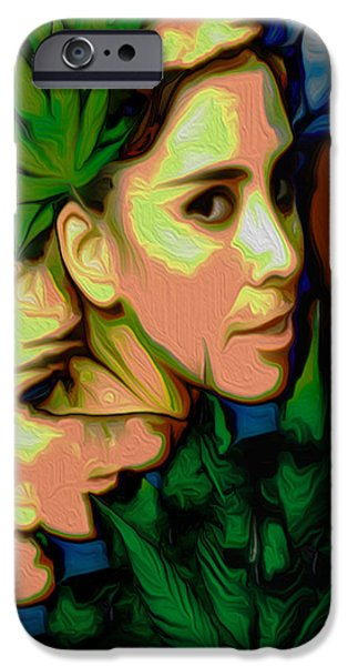 Painter Photo Mixed Media iPhone Cases - Primal Silverman iPhone Case by Jimi Bush
