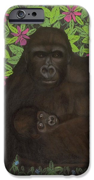 Primordial Spirit of Motherhood iPhone Case by Diana Perfect