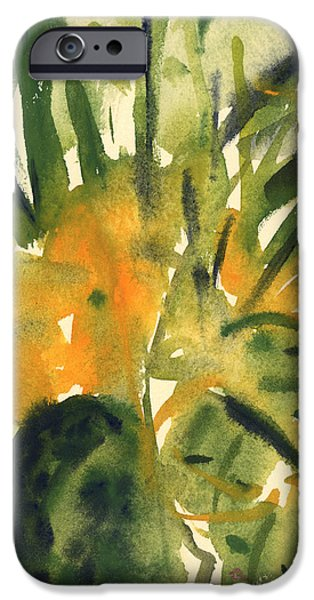 Tasteful Art iPhone Cases - Primroses iPhone Case by Claudia Hutchins-Puechavy