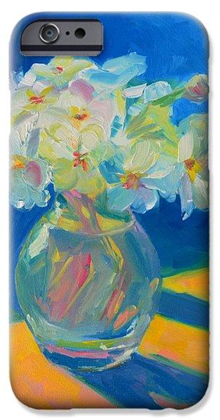 Primroses in Spring Light - Still Life iPhone Case by Patricia Awapara