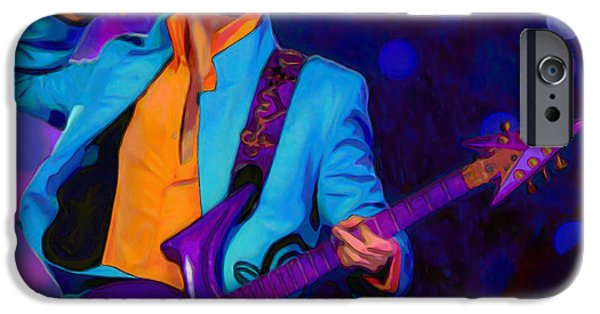 Shirt Digital iPhone Cases - Prince 3 iPhone Case by  Fli Art