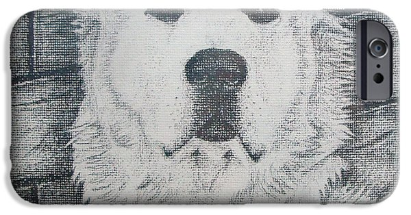 Animal Drawings iPhone Cases - Prince - Age 4 iPhone Case by Conor OBrien